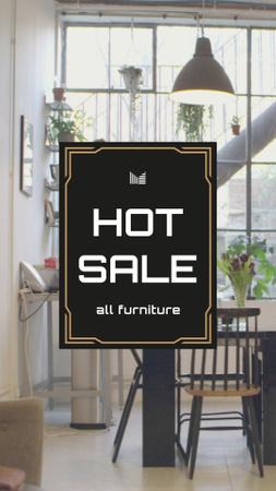 Modèle de visuel Furniture Sale Ad with Modern Room - Instagram Video Story