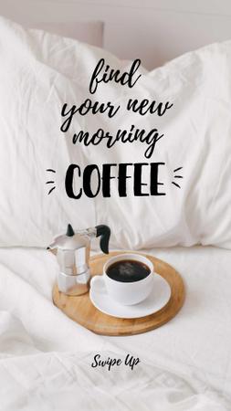 Designvorlage Weekend Morning Coffee in bed für Instagram Story