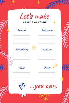 Next Year professional and personal Goals