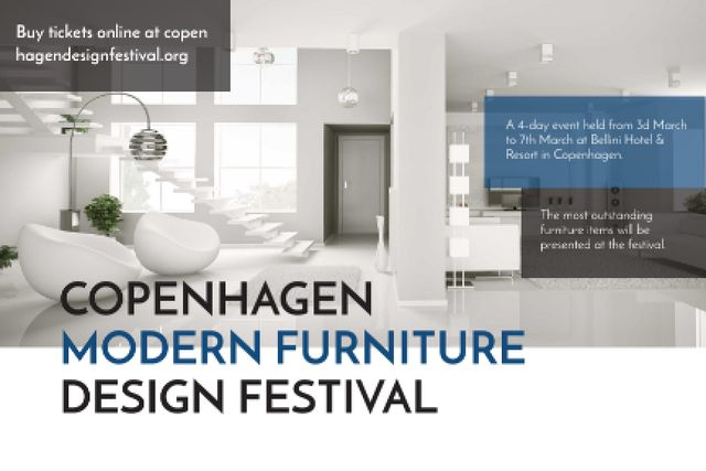 Template di design Modern furniture design festival Announcement Gift Certificate