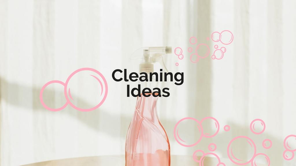 Cleaning Tips with Detergent bottle — Modelo de projeto