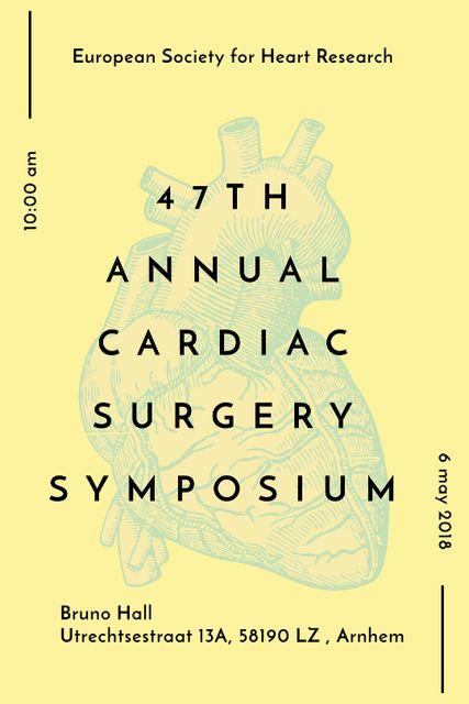 Plantilla de diseño de Cardiac Surgery Heart sketch Tumblr