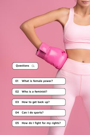Girl Power Inspiration with Fit Young Woman Pinterest Modelo de Design