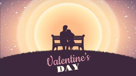 Plantilla de diseño de Couple on a bench on Valentine's Day Full HD video