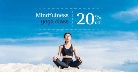 Mindfulness Yoga Class Ad Facebook AD – шаблон для дизайна