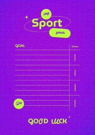 Sport Year Planning Schedule Planner – шаблон для дизайна