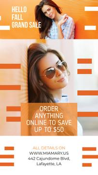 Fashion Promotion Beautiful Girl by Orange Wall