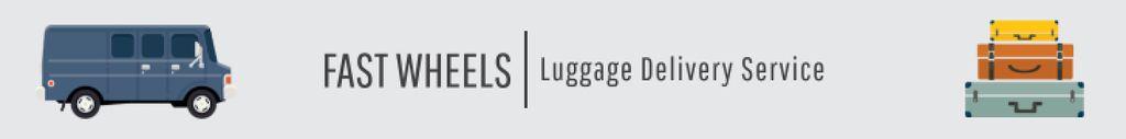 Plantilla de diseño de Luggage delivery service banner Leaderboard