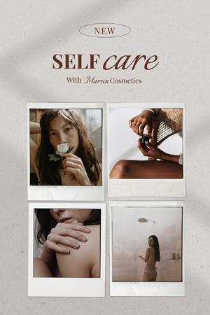 Skincare Cosmetics Ad with Young Beautiful Girls Pinterest Modelo de Design