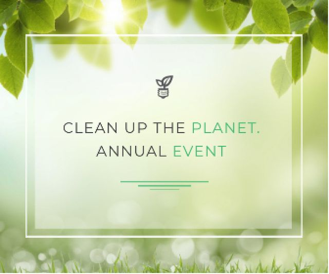 Clean up the Planet Annual event Large Rectangle Design Template