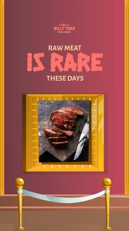 Designvorlage Delicious Steak in Golden Frame für Instagram Story
