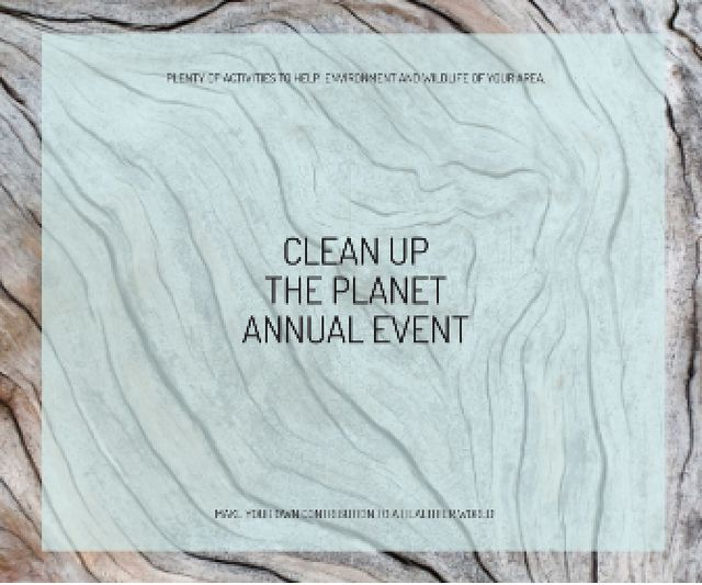 Clean up the Planet Annual event Large Rectangle – шаблон для дизайна