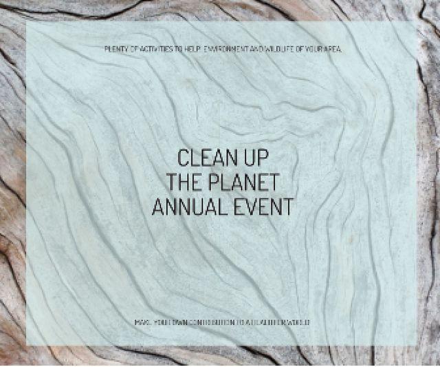 Plantilla de diseño de Clean up the Planet Annual event Large Rectangle