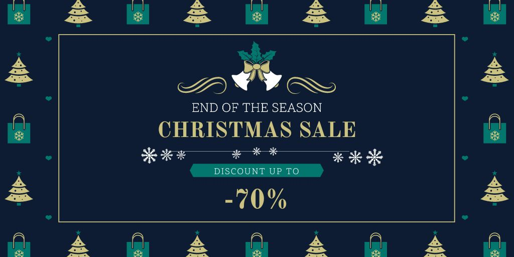 Christmas Sale Announcement with Trees and Gifts - Bir Tasarım Oluşturun