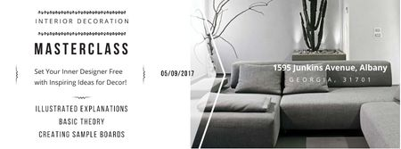 Szablon projektu Masterclass of Interior decoration Facebook cover