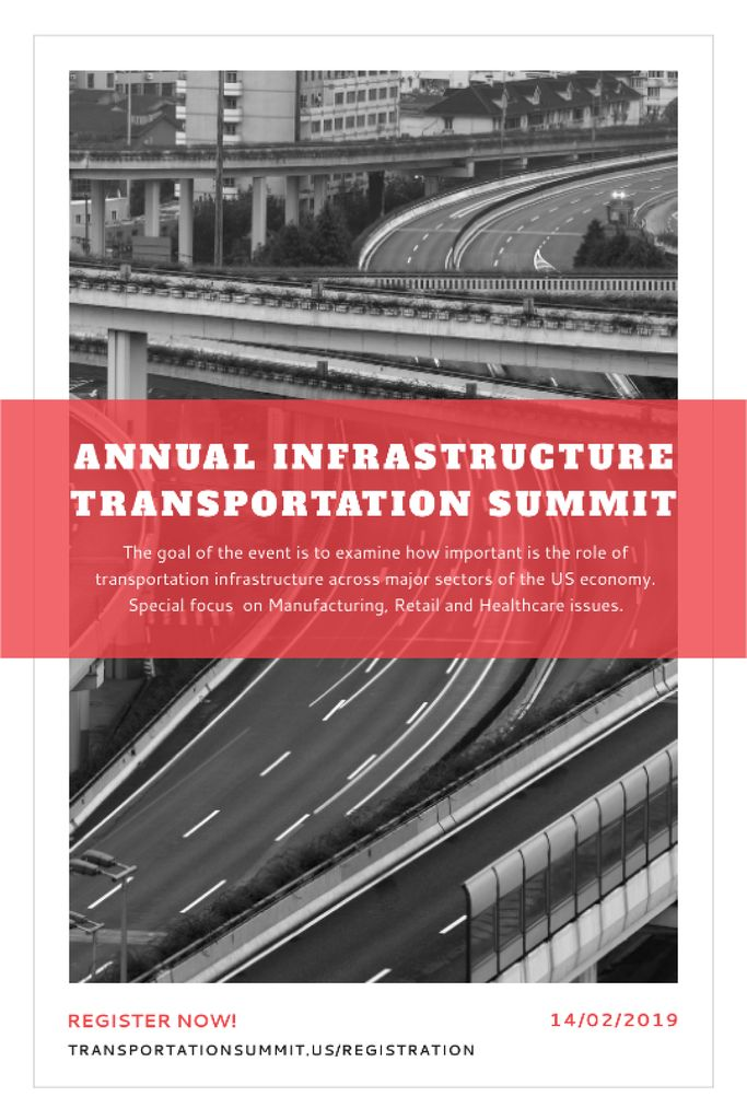 Annual infrastructure transportation summit Tumblr Design Template
