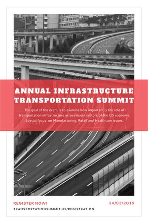 Ontwerpsjabloon van Tumblr van Annual infrastructure transportation summit