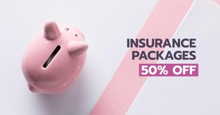 Insurance Packages Discount Offer Facebook ADデザインテンプレート