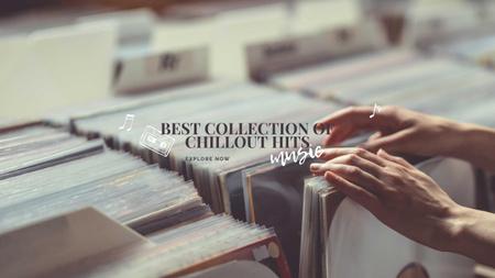 Ontwerpsjabloon van Youtube van Music Store ad with Vinyl