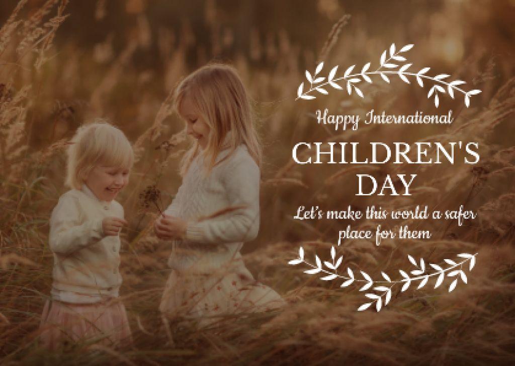 International Children's Day Postcard Modelo de Design