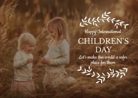 Szablon projektu International Children's Day Postcard