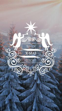 Plantilla de diseño de Christmas Event Announcement with Snowy Forest Instagram Story