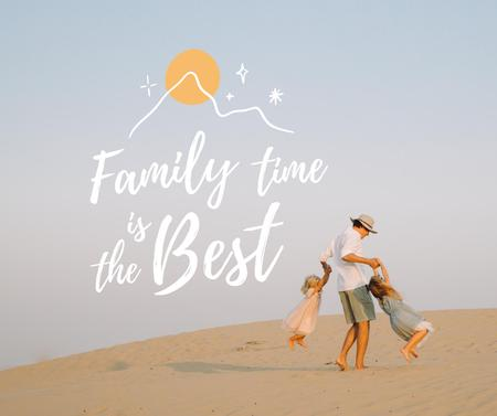 Family Day Inspiration with Father and Kids Facebook Design Template