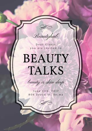 Beauty talks invitation Poster Modelo de Design