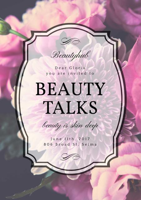 Beauty talks invitation Poster Modelo de Design