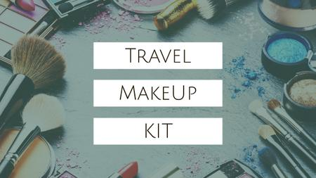 Plantilla de diseño de Travel Makeup Kit Cosmetics Set Youtube Thumbnail
