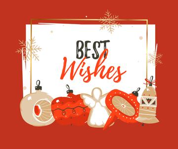 Best Wishes and Christmas decor