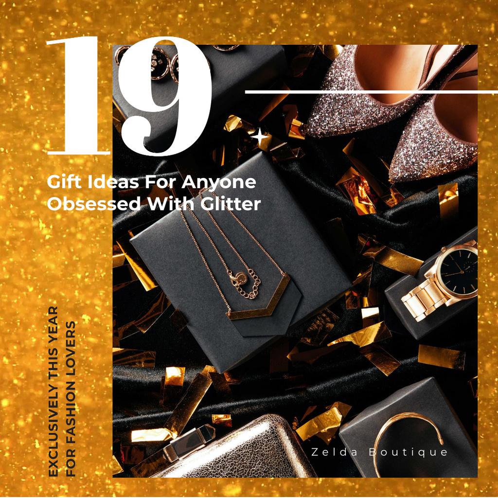 Shiny shoes and accessories - Bir Tasarım Oluşturun
