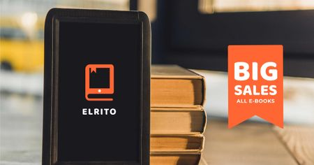 E-Books Sale Offer Facebook AD Modelo de Design