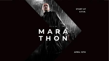 Plantilla de diseño de Movie Announcement with Man under Rain FB event cover