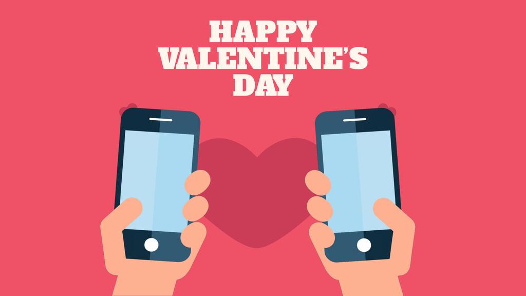 Valentine's Day Couple sending Messages — Modelo de projeto
