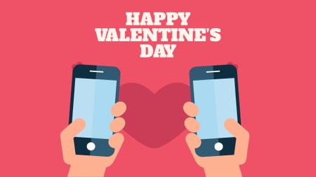 Plantilla de diseño de Valentine's Day Couple sending Messages Full HD video