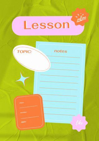 Ontwerpsjabloon van Schedule Planner van School Lesson Notes