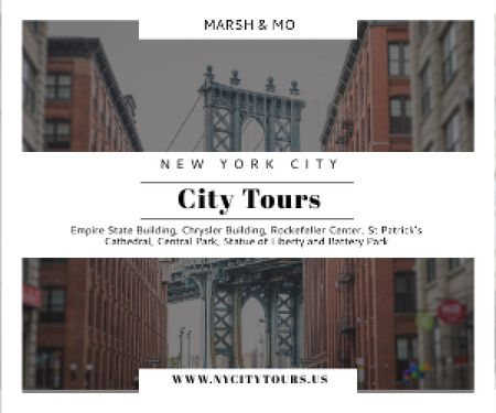 New York city tours advertisement Medium Rectangleデザインテンプレート