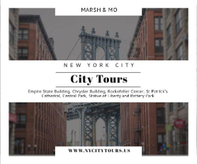 Szablon projektu New York city tours advertisement Medium Rectangle