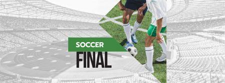 Designvorlage Soccer Final Event Announcement für Facebook cover