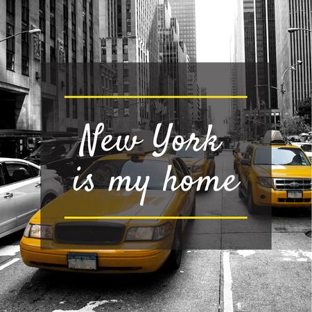 Taxi Cars in New York city Instagram ADデザインテンプレート