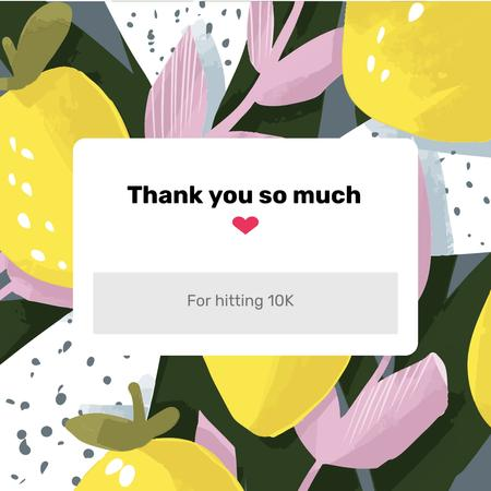 Thank You pop-up message Instagram AD – шаблон для дизайну