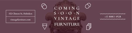 Plantilla de diseño de Vintage furniture shop Opening Announcement Twitter