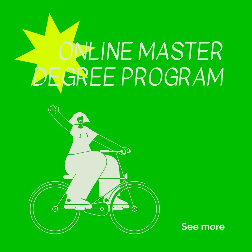 Online Education ad with Girl on Bicycle — Create a Design