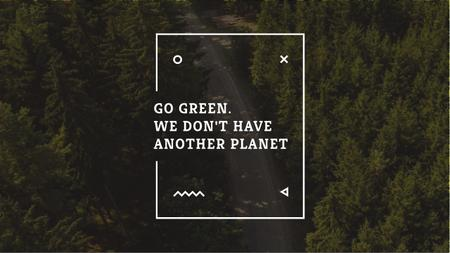 Designvorlage Citation about green planet für Youtube