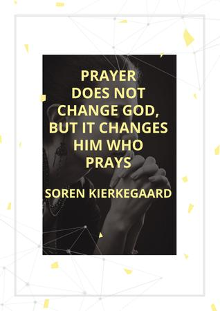 Plantilla de diseño de Religion citation about prayer Poster