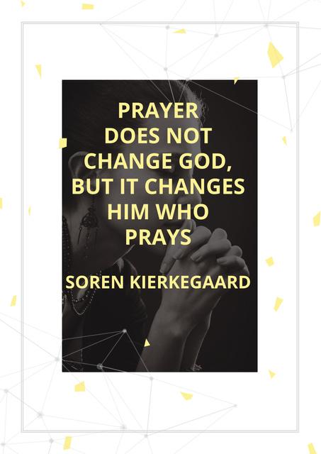 Ontwerpsjabloon van Poster van Religion citation about prayer