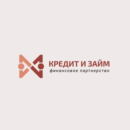 Financial Company with People Shaking Hands Icon Logo – шаблон для дизайна