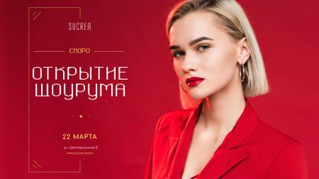 Stylish Women in Red Outfit Full HD video – шаблон для дизайна