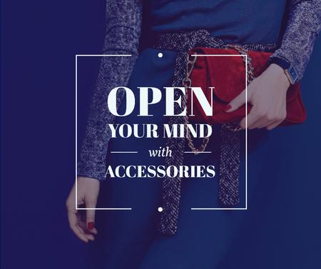 Plantilla de diseño de Accessories Quote Stylish Woman in Blue Facebook